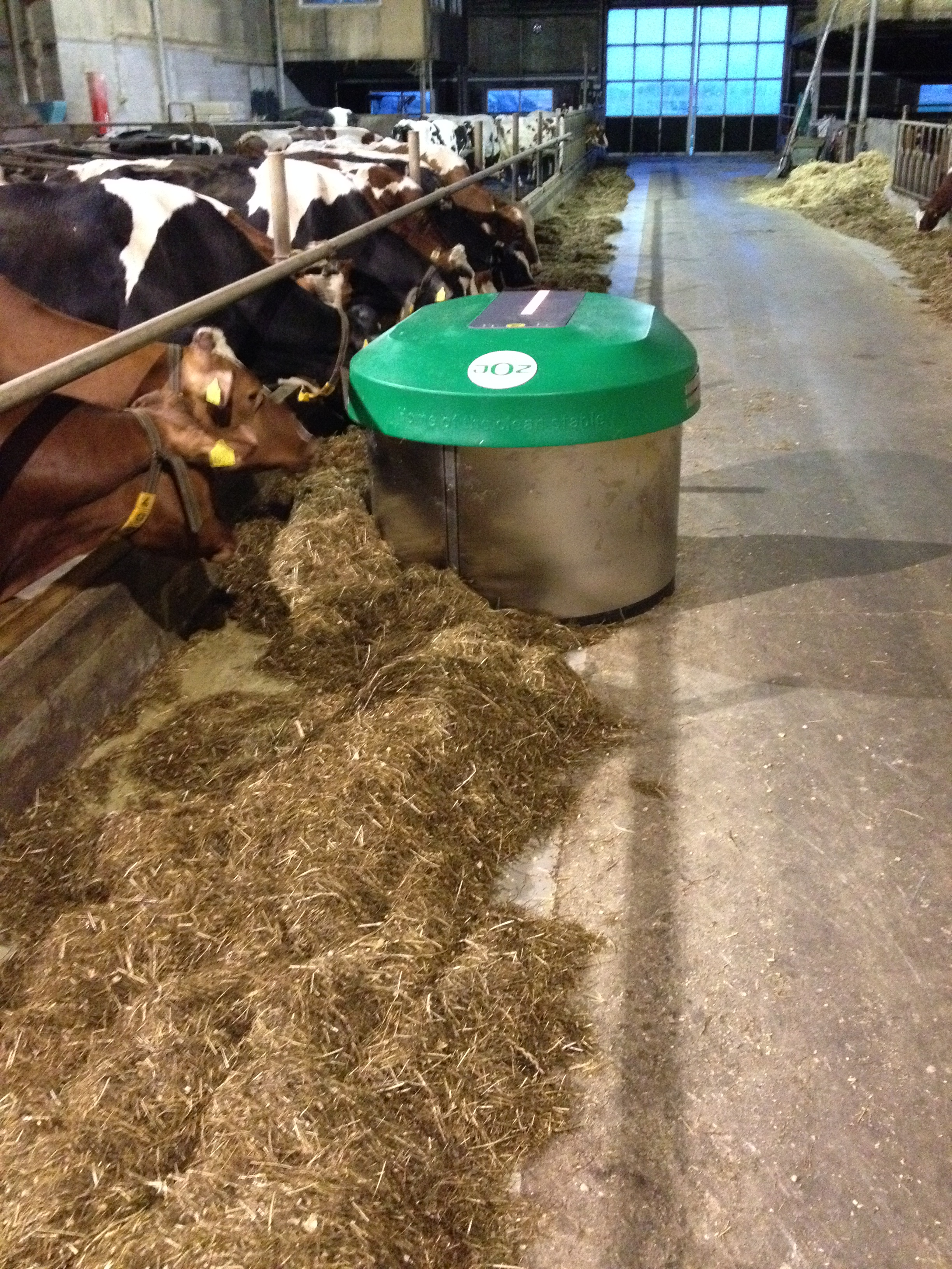 Robot Feed Pusher Cookstown Dairy Services